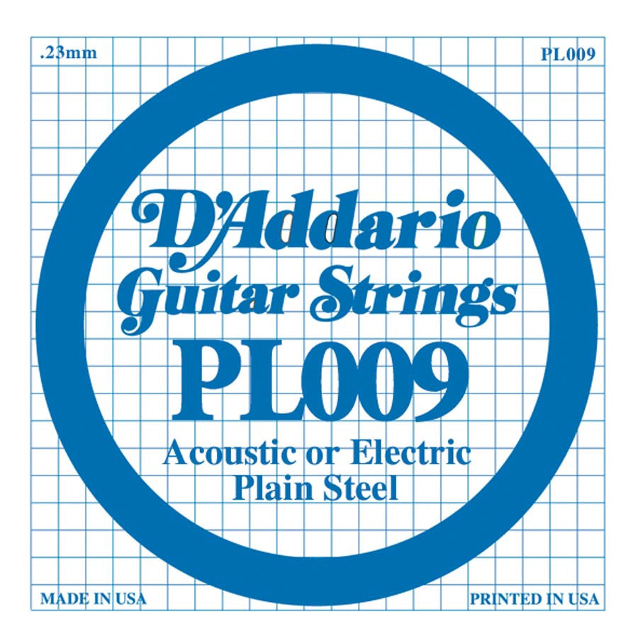 Daddario PL-009 single plain steel string, .009