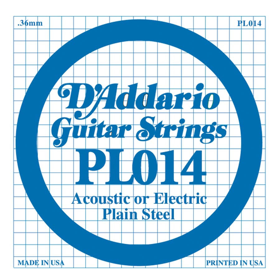 Daddario PL-014 single plain steel string, .014