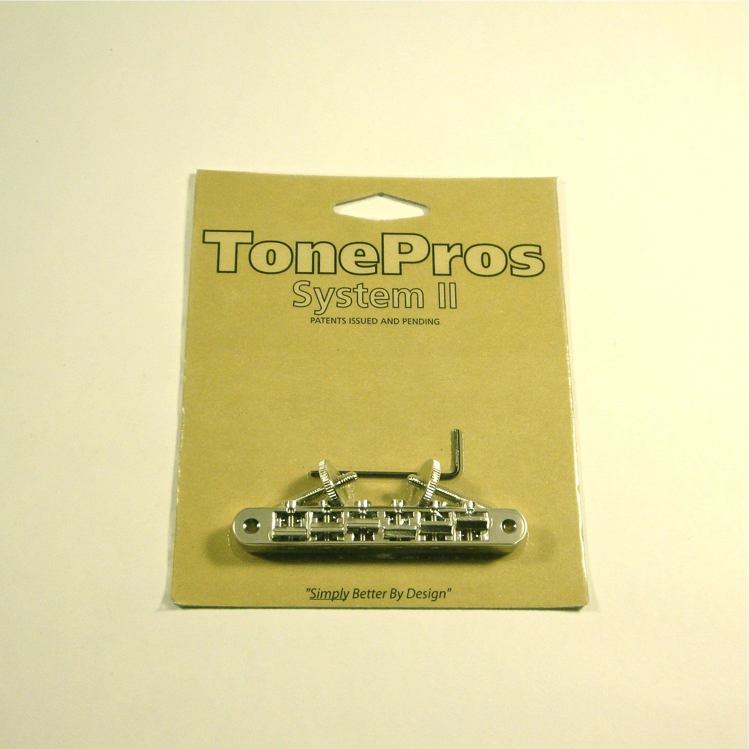 TonePros AVRII tune-o-matic locking bridge, nickel