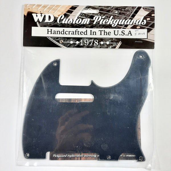 WD Music pickguard for Tele, 5-hole, black