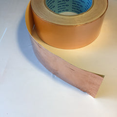 "Copper shielding tape, 2"" wide, self-adhesive, per ft"