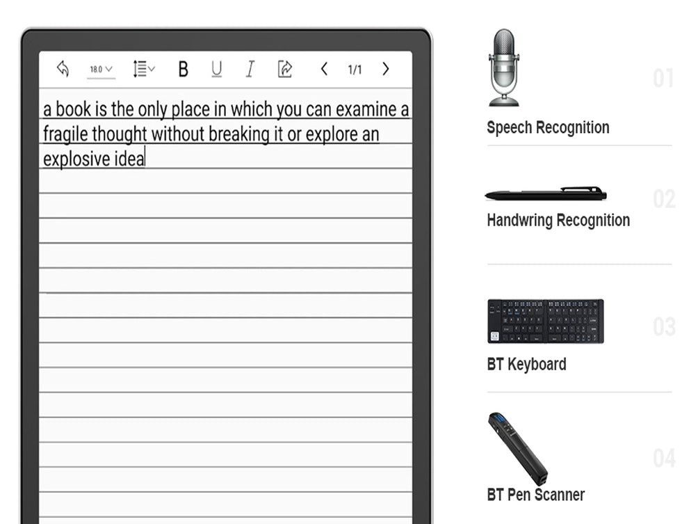 Use E-ink for Productivity: 4 Ways to Input Text on Boox eReaders