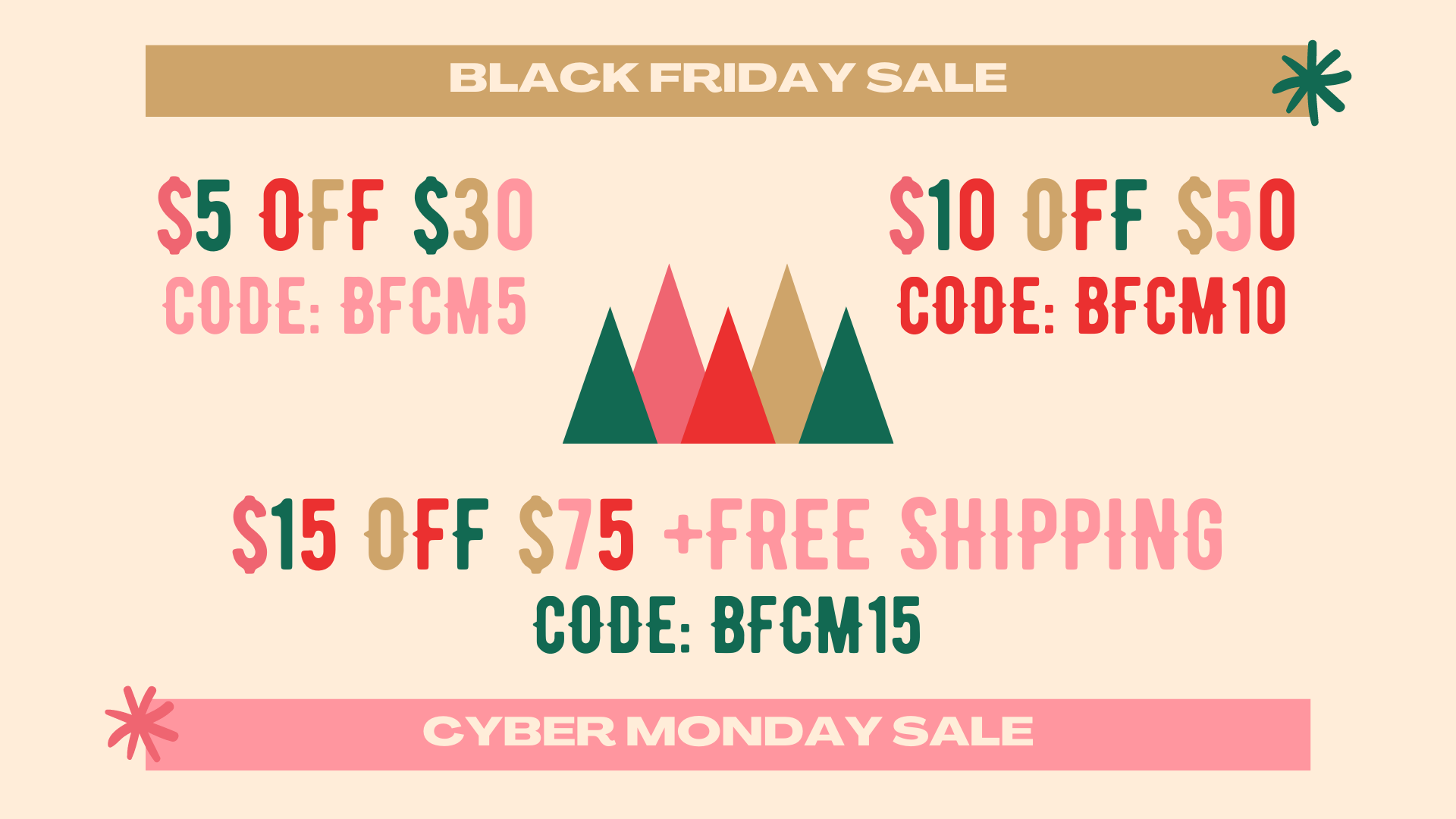 BLACK FRIDAY AND CYBER MONDAY SALES FLYER