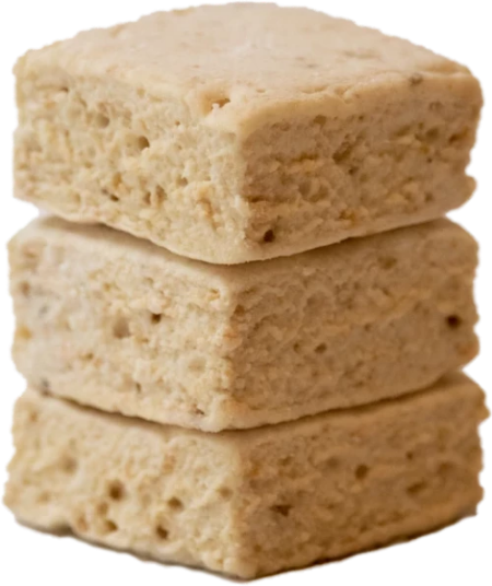 Handmade square marshmallows in an Banana Pudding flavor