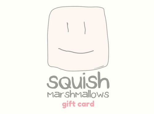 Squish Marshmallows logo with the words
