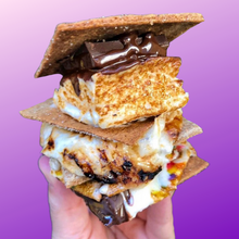 Load image into Gallery viewer, stack of 3 assembled s'mores made