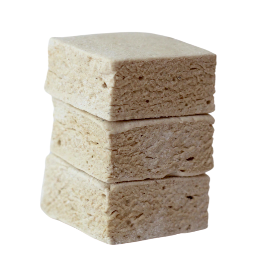 stack of 3 pumpkin spice latte flavored marshmallows