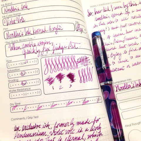 Noodler's Ink Violet Vote with Noodler's Konrad Acrylic Flex Nib Fountain Pen