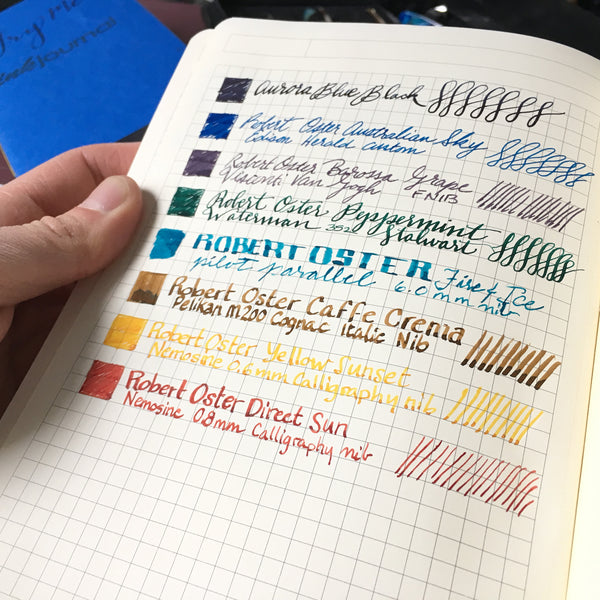 currently inked on clairefontaine my essentials grid notebook