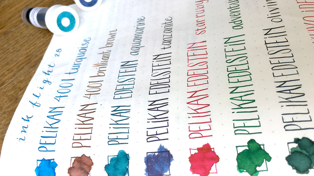 Pelikan Fountain Pen Inks - Currently Inked
