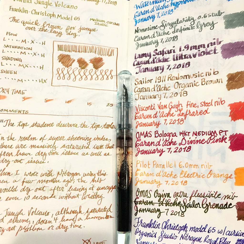 inkjournal tomoe river spread Krishna Jungle Volcano