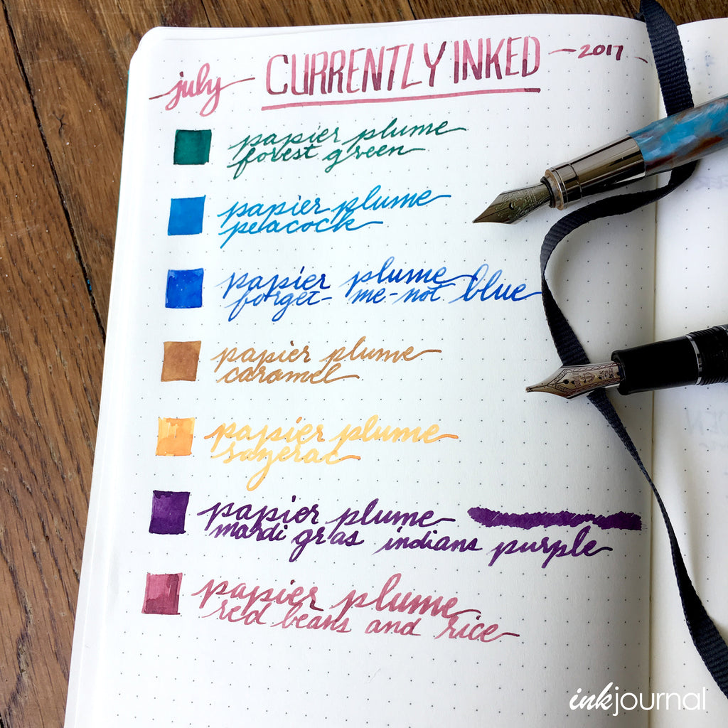 currently inked papier plume ink flight on leuctturm paper
