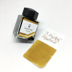 3 Oysters Mustard Yellow Brown Bottled Ink 38ml