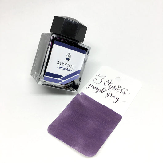 3 Oysters Purple Gray Bottled Ink 38ml