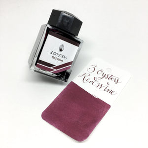 3 Oysters Red Wine Bottled Ink 38ml