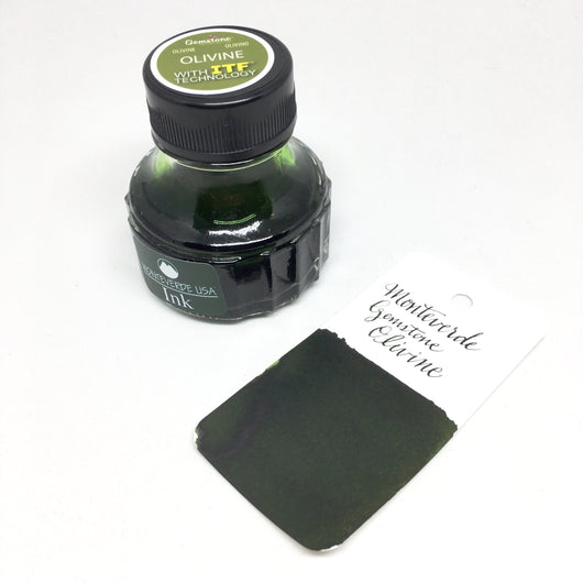 Monteverde Gemstone Olivine Green Bottled Ink 75ml