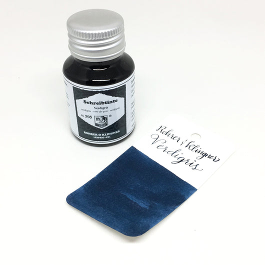 Rohrer & Klingner Verdigris Teal Bottled Ink 50ml