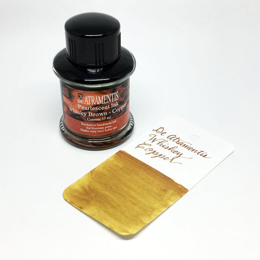 De Atramentis Pearlescent Whiskey Copper Bottled Ink 35mL
