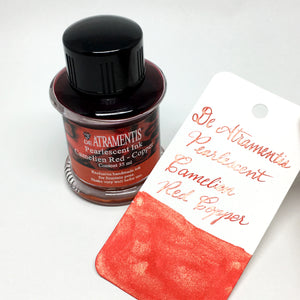 De Atramentis Pearlescent Camelien Red Copper Bottled Ink 35mL