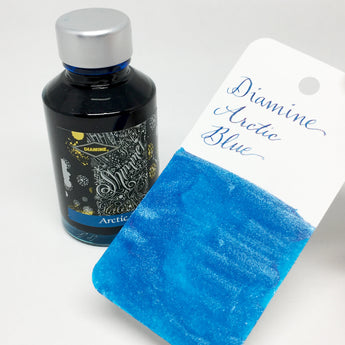 Diamine Shimmertastic Arctic Blue Bottled Ink 50ml