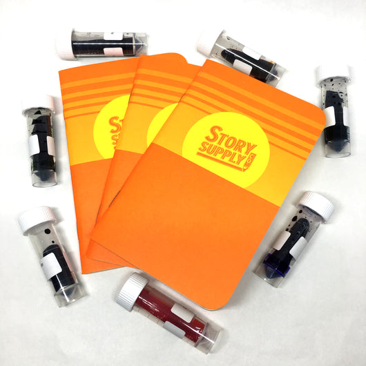 Story Supply Co SMR Pocket Notebooks 3-Pack + Ink Flight Sample Bundle