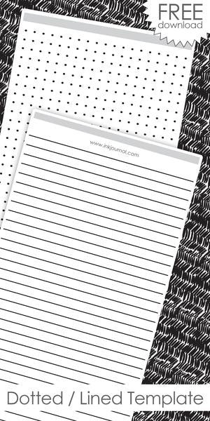 InkJournal Midori Regular TN Ruled / Dotted Printable Template