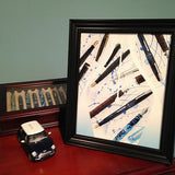 The nib 8 x 10 photo art print framed on desk