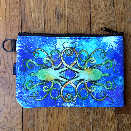 Rickshaw Bags x InkJournal Exclusive Inktopus A5 Journal Zip Pouch - Neptune Blue