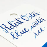 "Robert Oster ""Blue Water Ice"" Ink Sample 2ml"