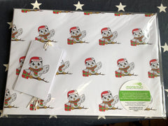 Mini Mo Christmas wrapping paper (4 sheets + tags)
