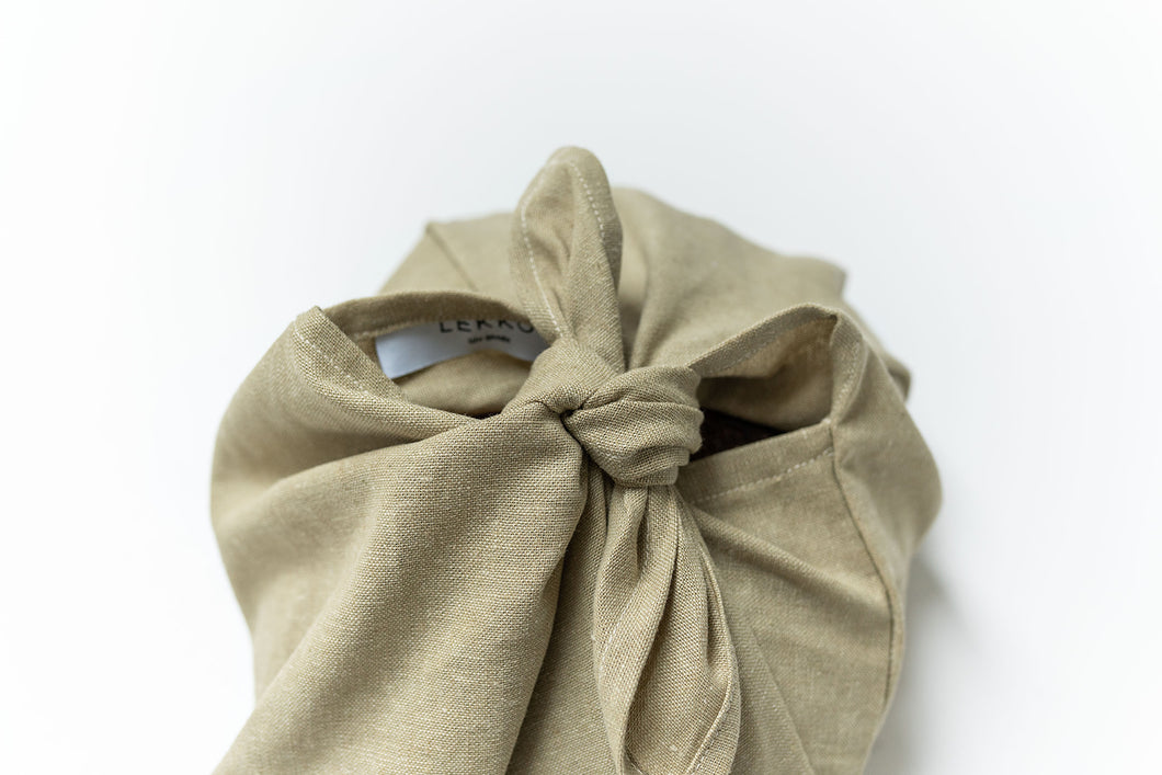 Linen Bread Bag | Large Bento Bag