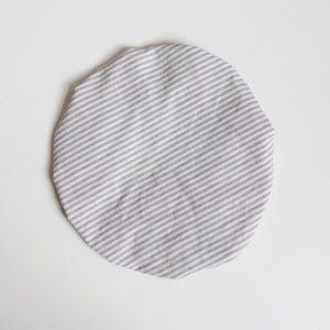 striped linen bowl cover