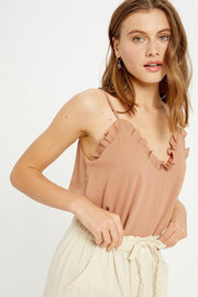 Ruffled Hem Cami Top - Nigh Road