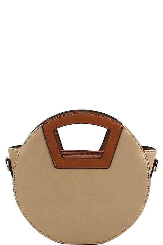 Two Tone Round Satchel
