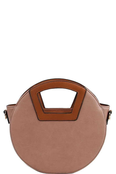 Two Tone Round Satchel - Nigh Road
