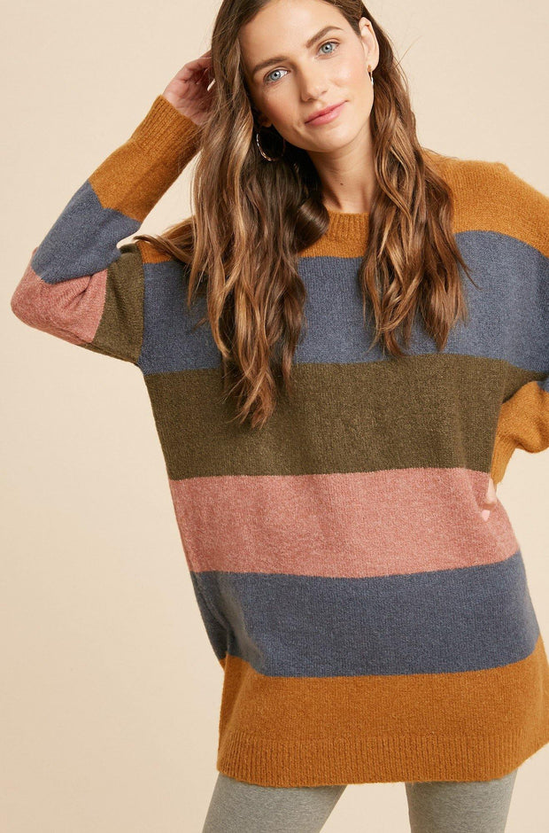 Colorblock Oversize Sweater - Nigh Road