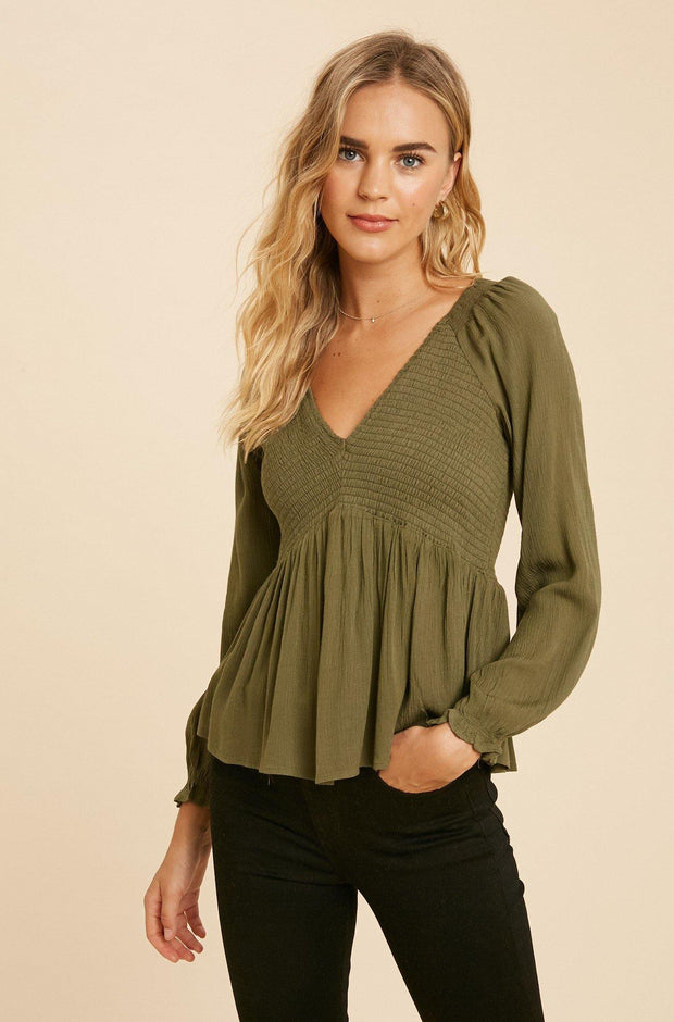 Smocked Babydoll Top - Nigh Road