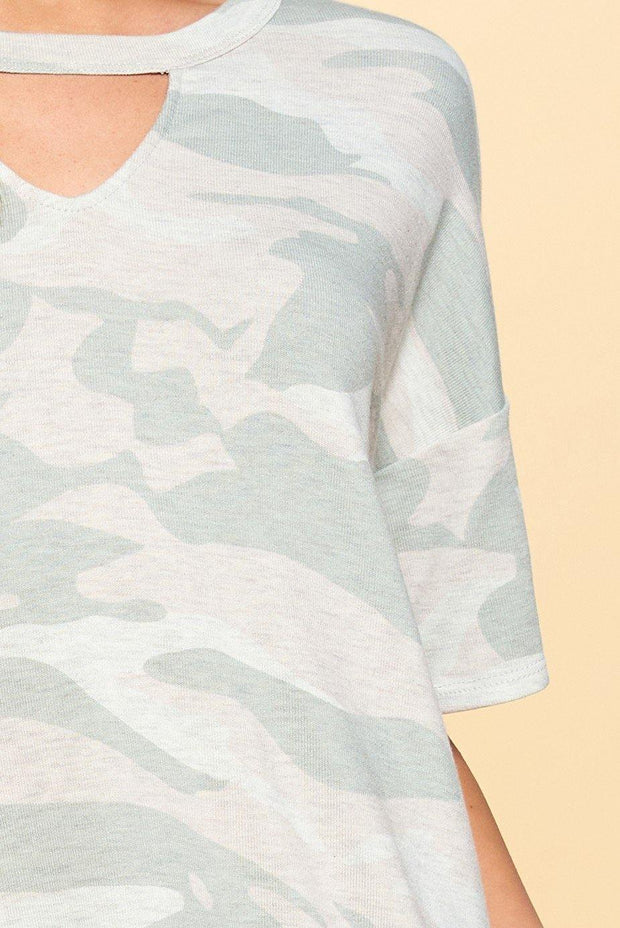 Camouflage Printed Short Set - Nigh Road