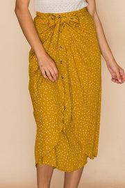 PIN DOT MIDI SKIRT