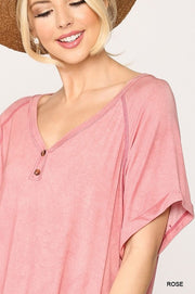 Tunic Top with Side Slits