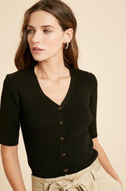 Ribbed Knit Top - Nigh Road