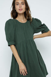 Puff Sleeve Babydoll Dress - Nigh Road