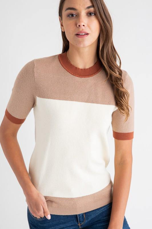 Short Sleeve Sweater Top - Nigh Road