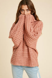 Boxy Turtleneck Sweater - Nigh Road
