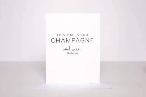 Greeting Card - This Calls for Champagne Greeting Card - Nigh Road