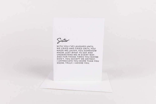 Dear Sister Greeting Card - Nigh Road