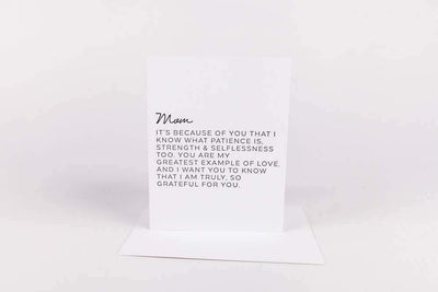 Letter to Mom Greeting Card - Nigh Road
