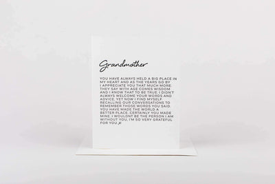 Letter to Grandmother Greeting Card