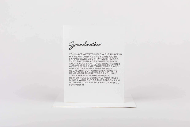 Letter to Grandmother Greeting Card - Nigh Road