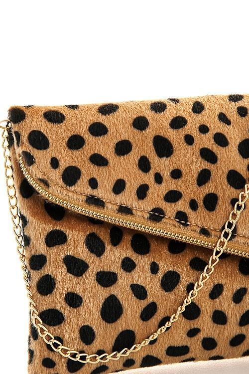 Leopard Fur Princess Clutch - Nigh Road